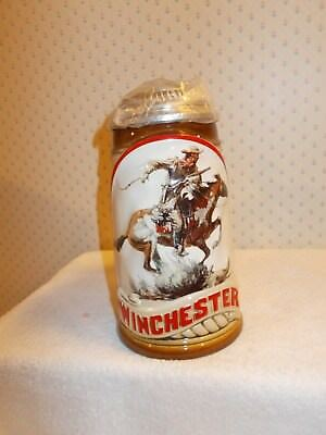 The Offical WINCHESTER Collectible Lidded Stein 1993 by Gerz in Germany in Box