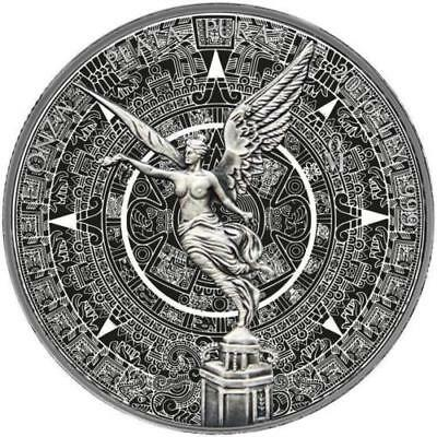 2016 Mexico Libertad 1oz. SILVER - Mayan Calendar - Black Ruthenium Gilt coin