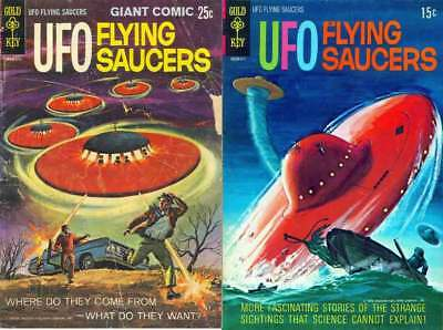15% off! UFO Flying Saucers/Outer Space Comics  22 issues 1 DVD-ROM