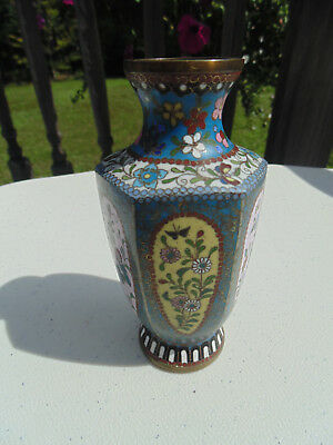Antique Japanese cloisonne miniature vase