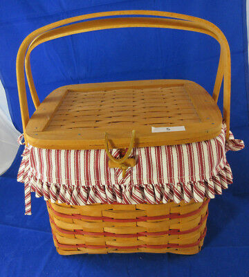 Longaberger 1996 Basket Fabric and Plastic Protector