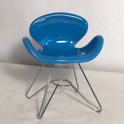 MCM Eames Turquoise Blue Mid Century Modern Miniature Chair
