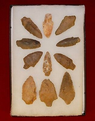 Collection of 11 Authentic Adena Native American Points, Kentucky