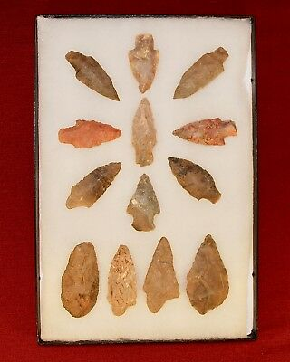 Collection of 13 Authentic Adena Native American Points, Kentucky