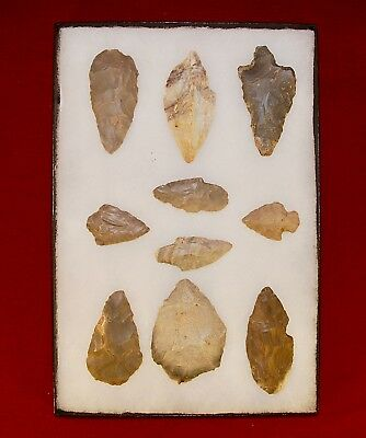 Collection of 10 Authentic Adena Native American Points, Kentucky