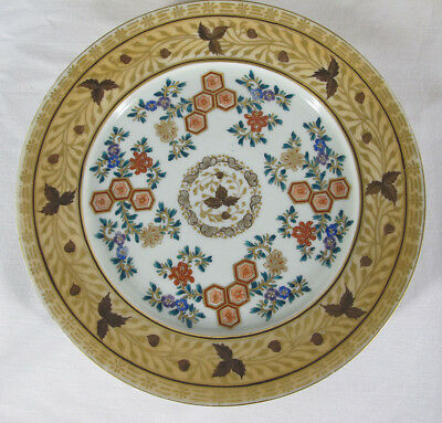 Meiji (6) Japan Trade Porcelain Export Dinner Plates Gold Kutani Dai Nippon yqz