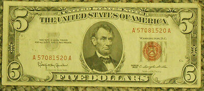 Series 1963 United States Note $5 Bill.  Free Shipping!!!!!!!!!!