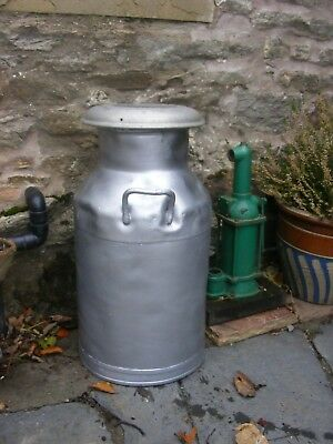 Vintage Alloy Milk Churn with Lid