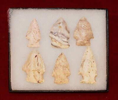 Collection of 6 Authentic Adena Native American Points; Ohio