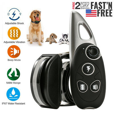 1800ft Pet Dog Shock Training E-Collar Rechargeable Remote Waterproof Trainer US