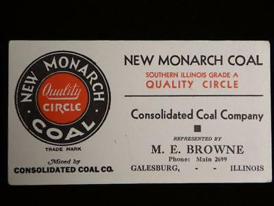New Monarch Coal Ink Blotter Southern Illinois Grade A Galesburg  Unused