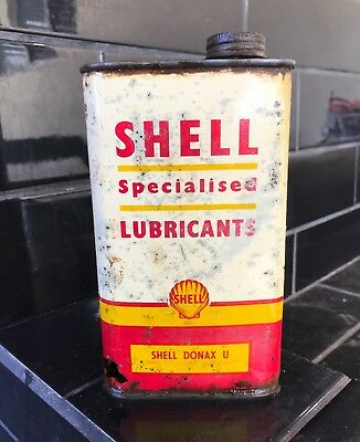 Shell Donax UCL 1 Imperial Pint Vintage Oil Tin