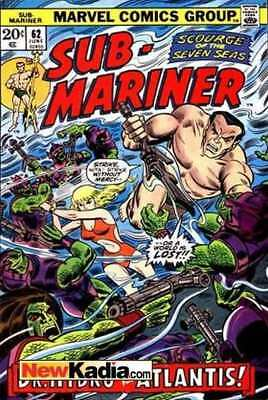 Sub-Mariner (1968 series) #62 in Very Fine minus condition. Marvel comics [*a5]