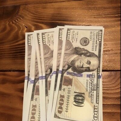 TEN (10) Fake Prop Play Gag  10 X $100 New Style Money Props Movie Music Youtube