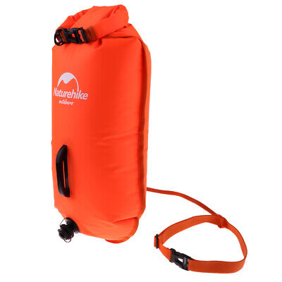 Inflatable Safety Swim Buoy Tow Float Dry Bag for Swimming Training Racing
