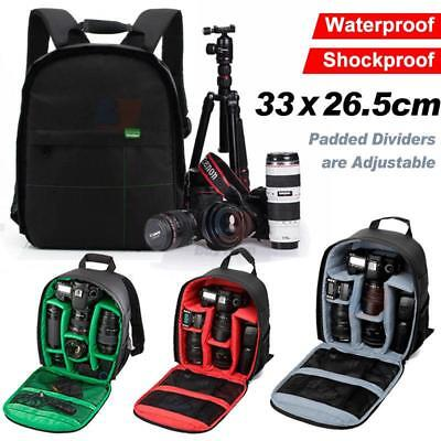 Waterproof Shockproof SLR DSLR Camera Zipper Bag Case Backpack For Nikon, Canon