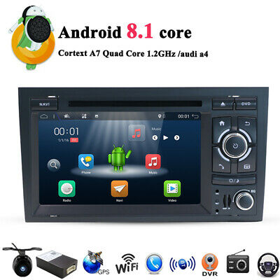7'' Car DVD player radio GPS Navigation BT Stereo WIFI DAB+ FOR Audi A4 S4 RS4