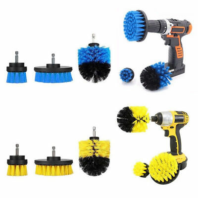Grout Power Scrubber Cleaning Drill Brush Tub Cleaner Combo Tool Kit HOT HE