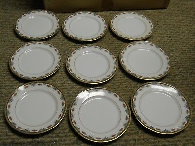 Lot 9 Old Abbey Stern Bros. N.y. Limoges Fine China France Side Plates 7 1/4 D
