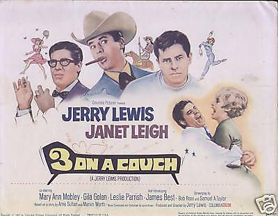 3 On a Couch title card 1966 Jerry Lewis Janet Leigh