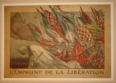 Original French poster linen WW1 First World War I WW1 WWI wwi 1918 Abel Faivre