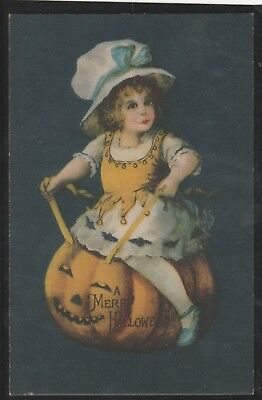 Kappy #10 C.1900 Unposted Scarce Halloween Post Card Multi-Colored By Clapsaddle