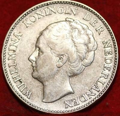 1930 Netherlands 1 Gulden Silver Foreign Coin