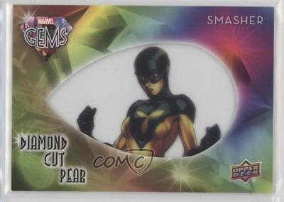 2016 Upper Deck Marvel Gems Diamond Cut Pear #DCP-18 Smasher Non-Sports Card 8w5