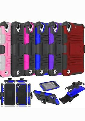 For HTC Desire 530/630  Case Belt Clip Holster Shockproof Armor Hard Phone Cover