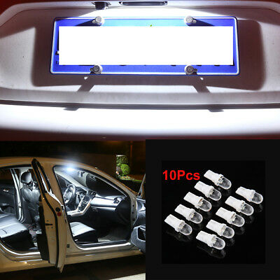 10X T10 W5W 12V 5W 194 168 158 501 White LED Side Car Wedge Light Lamp Bulbs
