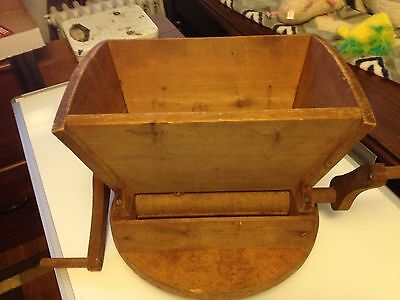 Handmade wooden Fruit berry  honey  and crusher two handles turn them opposite