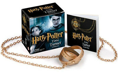 Harry Potter Hermione Time Turner Rings Hour Glass Pendant Necklace Stickers Kit