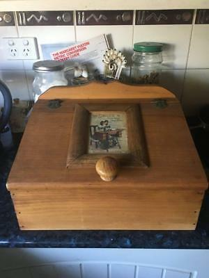 Vintage/retro Wooden Sewing Bin/box - Collectable - Great Price - Buy Now