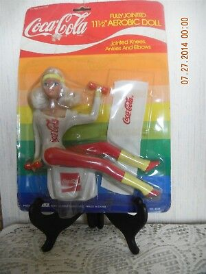 """COCA COLA DOLL 11 1/2"""" FULLY JOINTED AEROBIC DOLL No 4021 SEALED IN PACKAGE"""