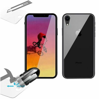 For iPhone X/XS Max/XR Front and Back Rear Tempered Glass Screen Protector Film