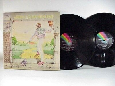 "Elton John: ""goodbye Yellow Brick Road, Lp Record, Mca2-10003, France 1973"