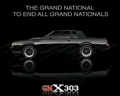 BUICK CUSTOM GNX POSTER  GN Grand National T-Type Turbo-T WE4