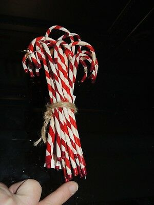 20 Vintage Candy Cane Ornaments 6''