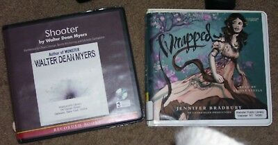 2 YA Audio Books on CD Shooter &Wrapped