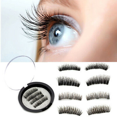 Triple Magnetic Eyelashes Handmade Mink Reusable False Magnet Eye Lashes Makeup