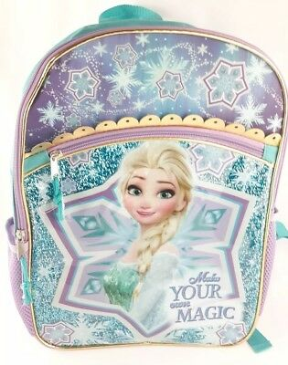 "Disney Frozen Elsa Backpack 16"" School Book Bag Tote Full Size NEW"