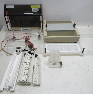 Mixed Lot Gel Electrophoresis Items Bio-Rad 385 Rotofor Cell Top Ephortec Cell +