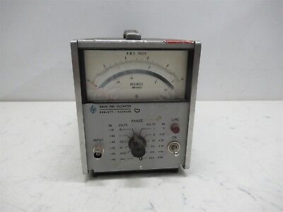 HP Hewlett Packard 3400A RMS Voltmeter Laboratory Unit Portable Benchtop