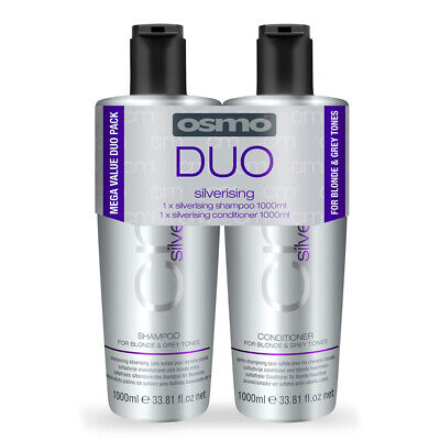 OSMO Silverising Purple Shampoo and Conditioner Duo Hair Pack (1 Litre)