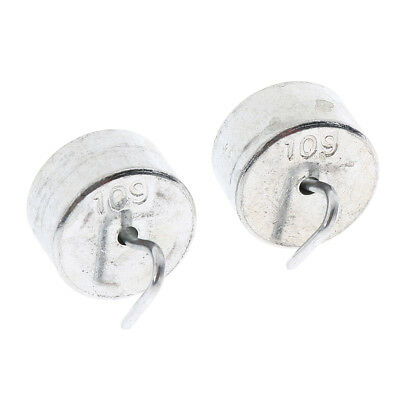 Pack of 2pcs 10g Iron Slotted Weights Sets Hooked Calibration Mass w/Hanger