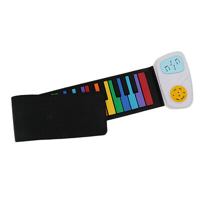 Flexible Rainbow 49 Keys Silicon Roll Up Piano Kids Keyboard Toys Gift