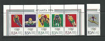 1996 Olympics set of 6 Complete Mint Unhinged as Issued