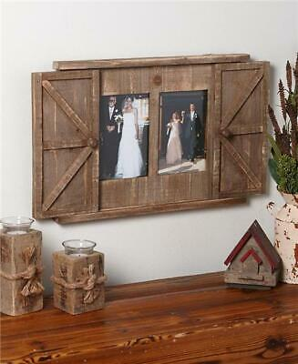 Country Inspired Rustic Barn Door Photo Picture Frame Ready To Hang Home Decor