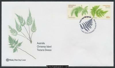 01-May-2012 Christmas Island Ferns First Day Cover