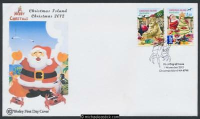 01-Nov-2012 Christmas Island Christmas First Day Cover